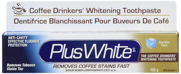 Plus White Coffee Drinkers Whitening Toothpaste 3.5 Oz Pack of 24