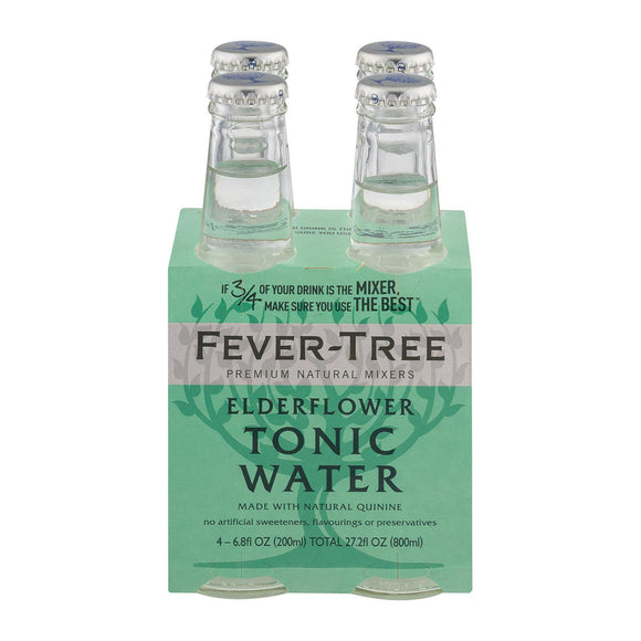 Fever - Tree Elderflower Tonic Water - Tonic Water - Case of 6 - 6.8 FL oz.