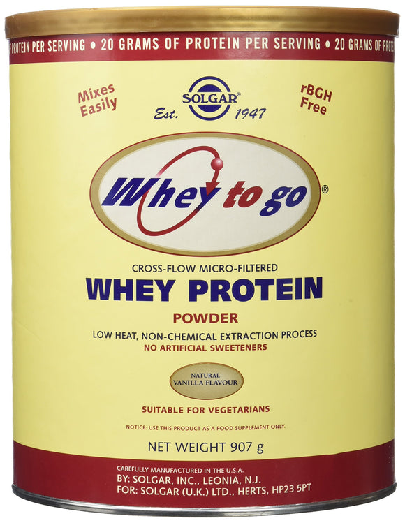 Whey To Go® Protein Powder* Natural Vanilla Flavor 32 oz Pack of 3