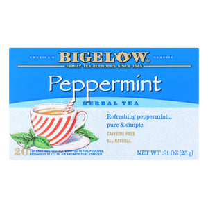 Bigelow Tea Purely Peppermint Tea - Case of 6 - 20 BAG