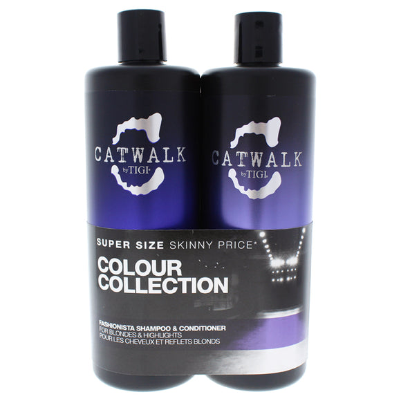 Catwalk Fashionista Violet Duo by TIGI for Unisex - 25.36 oz Shampoo and Conditioner Pack of 3
