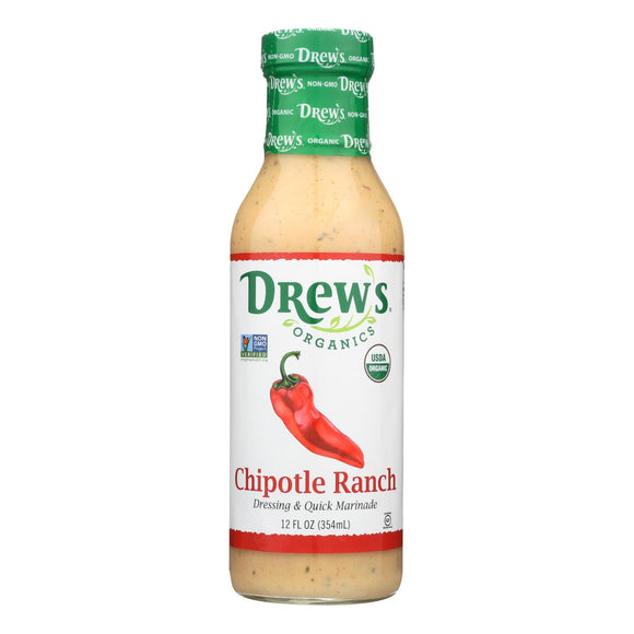 Drew?s Chipotle Ranch Dressing and Quick Marinade - 12 Oz. - Case of 6
