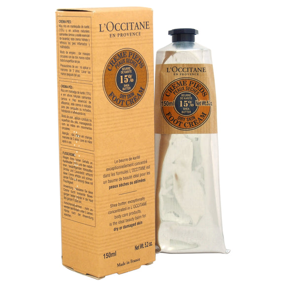 Shea Butter Foot Cream - Dry Skin by Loccitane for Unisex - 5.2 oz Foot Cream Pack of 3