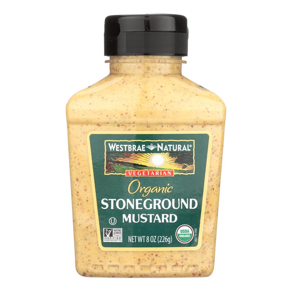 Westbrae Natural Mustard - Organic - Stoneground - Case of 12 - 8 oz