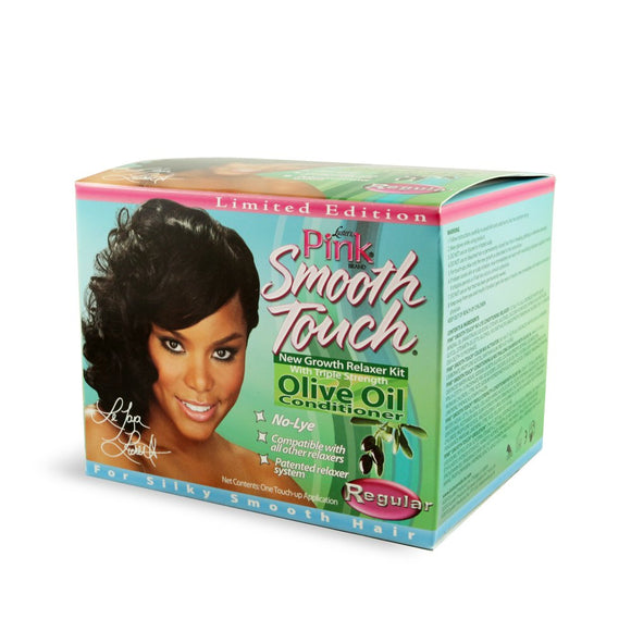 Luster Pink Smooth Touch Extra Virgin Olive Oil No Lye Relaxer Kit Regular Pack of 12