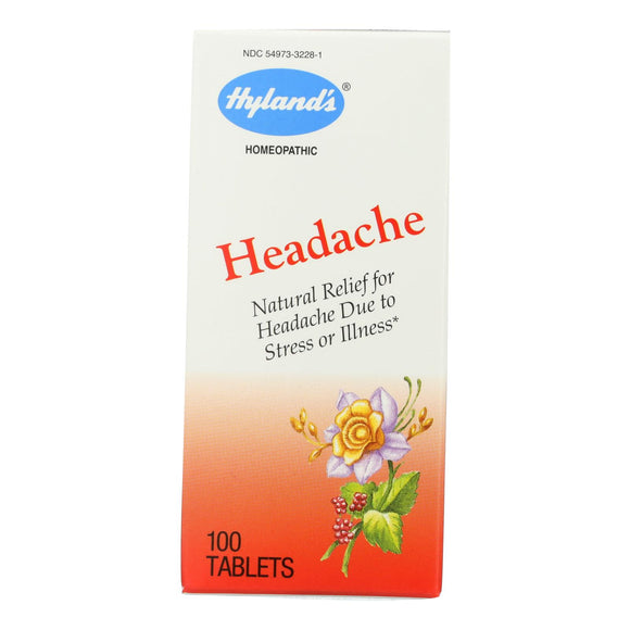 Hylands Homeopathic Headache - 100 Tablets Pack of 3