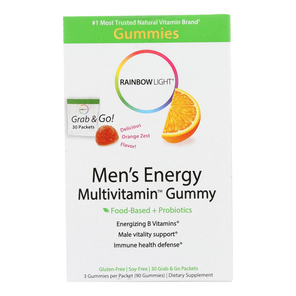 Rainbow Light Mens Multivitamin - Energy - Gummy - 30 Packets Pack of 3