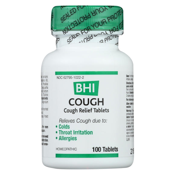 BHI - Cough Relief - 100 Tablets Pack of 3