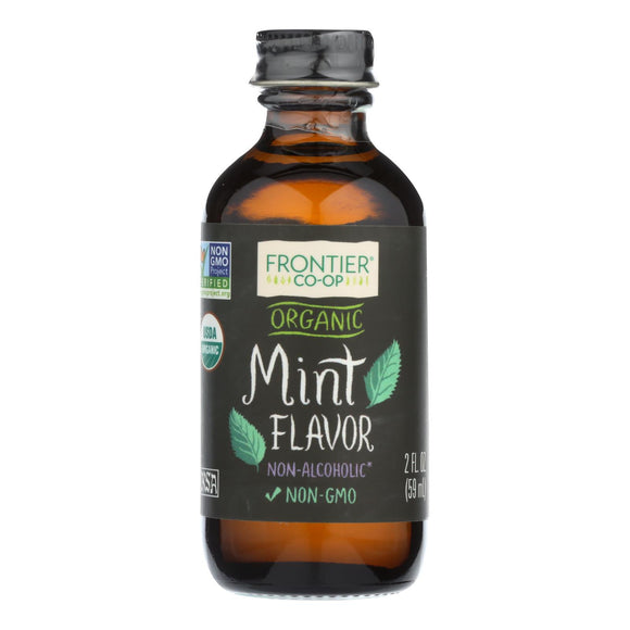 Frontier Herb Mint Flavor - Organic - 2 oz Pack of 3