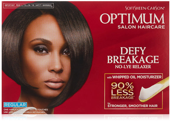 Optimum Salon Haircare Defy Breakage No Lye Relaxer Kit Regular Pack of 6