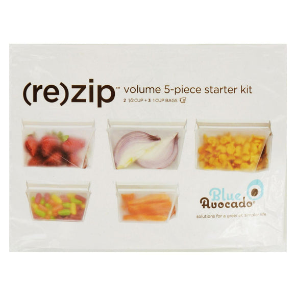 Blue Avocado - Bag - Re-Zip - Volume Starter Kit - Clear - 5 Pieces Pack of 3