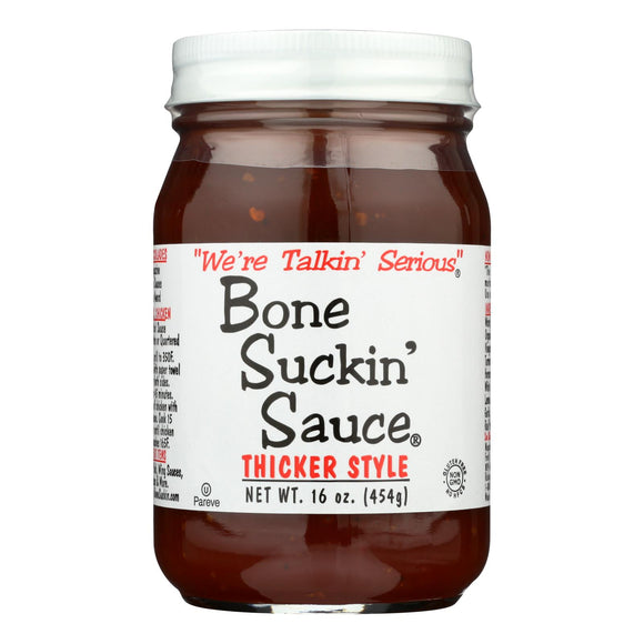 Bone Suckin - Barbecue Sauce - Thicker Style - Case of 12 - 16 oz.