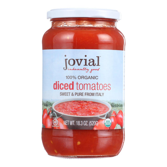 Jovial - Tomatoes - Organic - Diced - 18.3 oz - case of 6