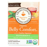 Traditional Medicinals Belly Comfort Peppermint - Caffeine Free - Case of 6 - 16 Bags