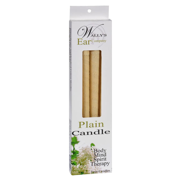 Wally's Candle - Plain - 4 Candles Pack of 3