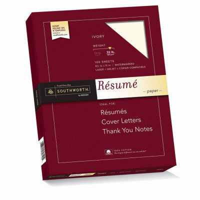 Resume Paper 100Ct Rd181Cf Pack of 12