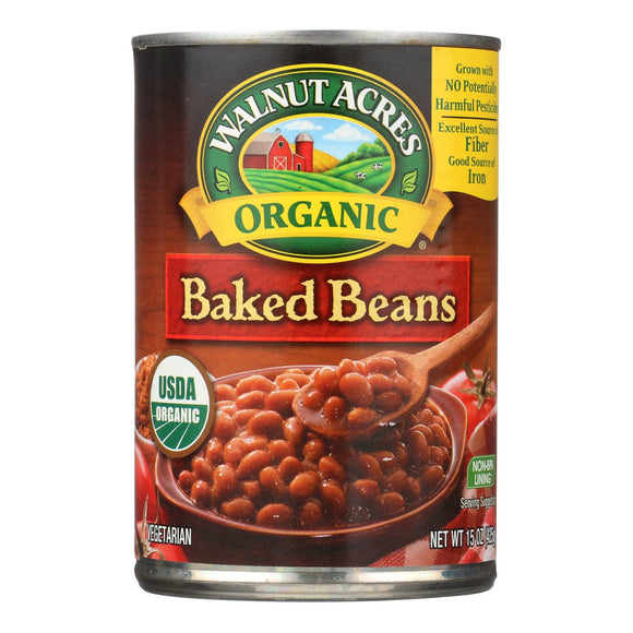 Walnut Acres Organic Baked Beans - Case of 12 - 15 oz.