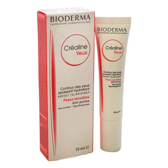 Crealine Yeux Contour Des Yeux Apaisant Hydratant by Bioderma for Unisex - 0.5 oz Treatment Pack of 3