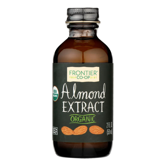 Frontier Herb Almond Extract - Organic - 2 oz Pack of 3