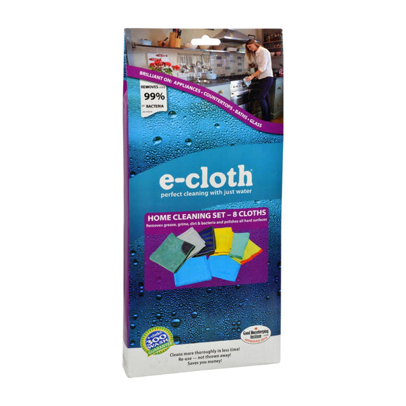 E-Cloth Home Cleaning Set - 8 Piece Set Pack of 3