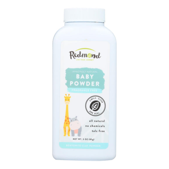 Redmond Trading Company Baby Powder - 3 oz Pack of 3