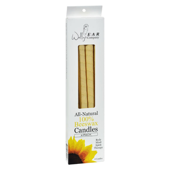Wally's Ear Candles Beeswax - 4 Candles Pack of 3