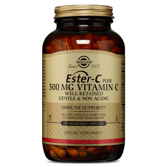 Ester-C® Plus 500 mg Vitamin C Vegetable Capsules (Ester-C® Ascorbate Complex) 250 ct Pack of 3