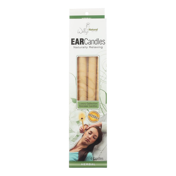 Wally's Ear Candles Herbal Beeswax - 4 Candles Pack of 3