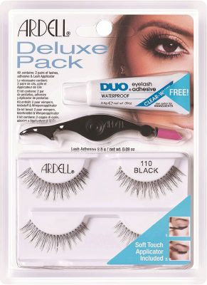 Ardell Lashes #110 Black 2 Pair Pack of 4