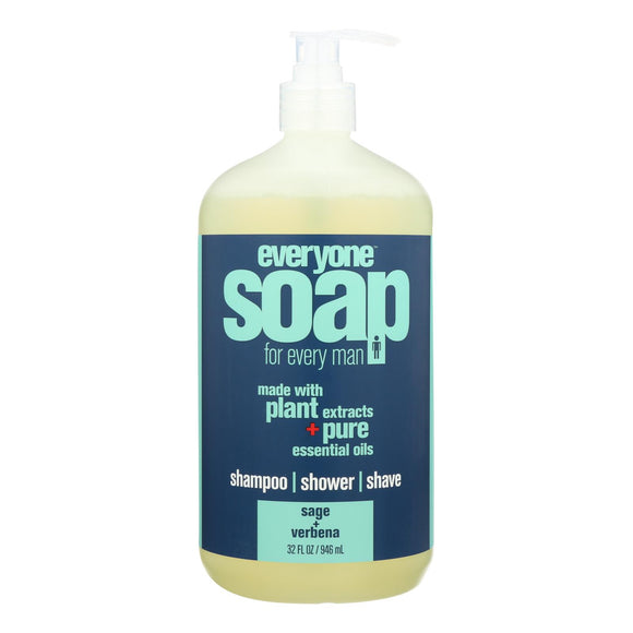 Everyone Kid Soap - Sage and Verbena - Case of 1 - 32 fl oz. Pack of 3