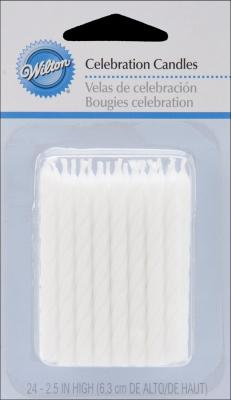 Candles Celebration White Pack of 6
