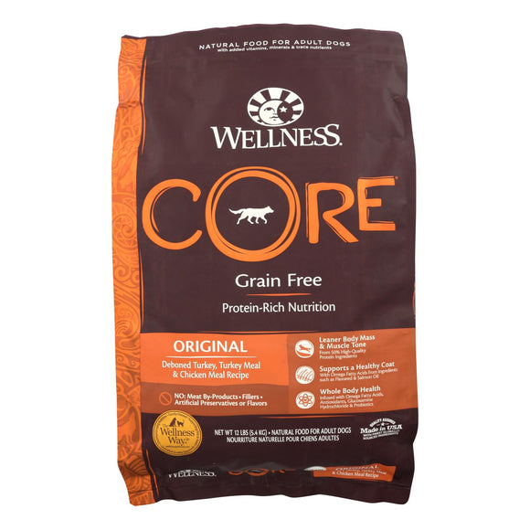 Wellness Dog Food - CORE Dry Formula Original - 12 lb. Pack of 3
