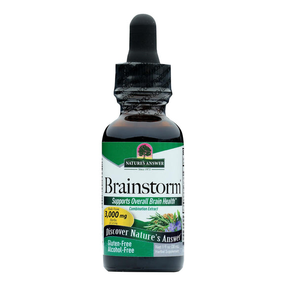 Nature's Answer - Brainstorm Alcohol Free - 1 fl oz Pack of 3