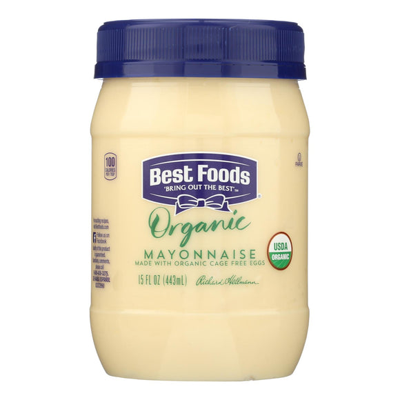 Best Foods, Organic Mayonnaise - Case of 6 - 15 OZ