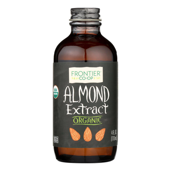 Frontier Herb Almond Extract - Organic - 4 oz Pack of 3
