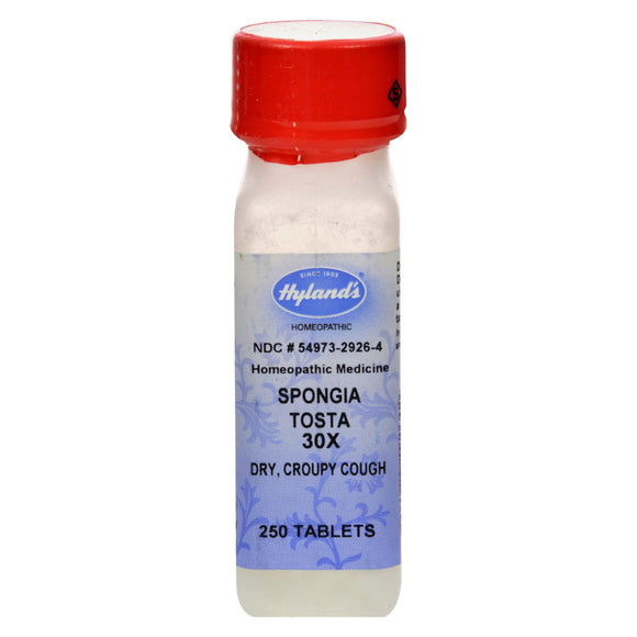 Hyland's Spongia Tosta 30X - 250 Tablets Pack of 3