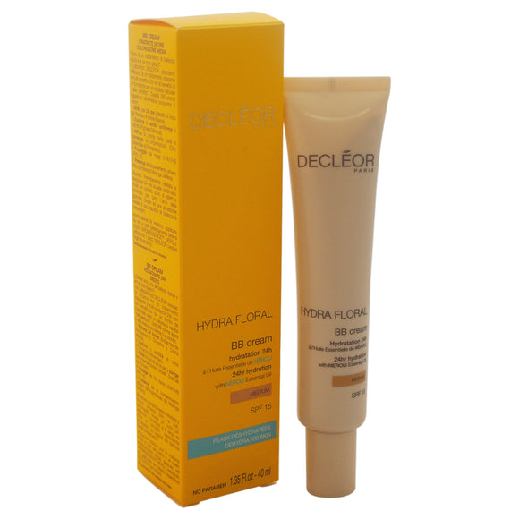 Hydra Floral BB Cream 24hr Hydration SPF 15 - Medium by Decleor for Unisex - 1.35 oz Makeup Pack of 3