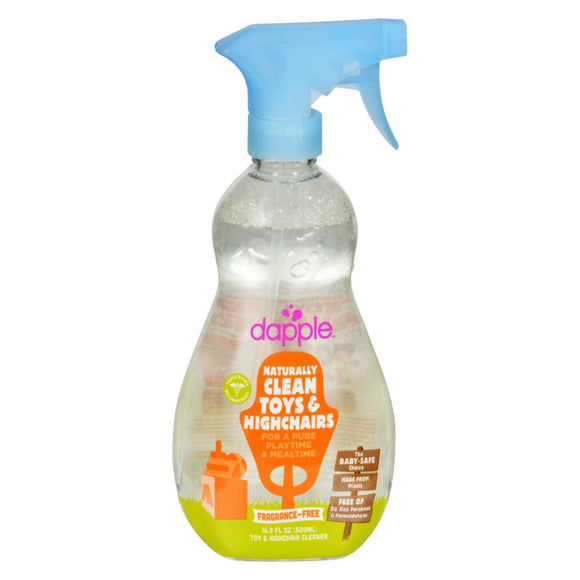 Dapple Toy and High Chair Cleaner - Fragrance Free - 16.9 fl oz Pack of 3