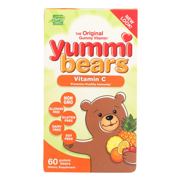 Hero Nutritionals Yummi Bears Vitamin C - 60 Chewables Pack of 3