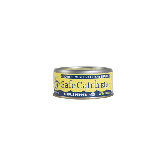 Safe Catch Elite Wild Tuna - Citrus Pepper - Case of 6 - 5 oz