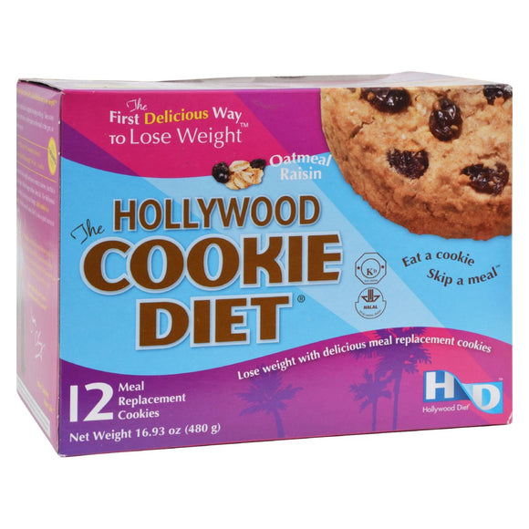 Hollywood Diet Miracle Products Hollywood Cookie Diet Meal Replacement Cookie Oatmeal - 12 Cookies Pack of 3