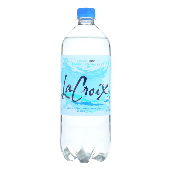 LaCroix - Sparkling Water - Pure - Case of 15 - 1 Liter