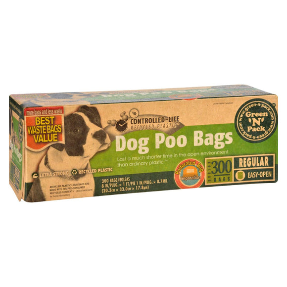 Eco-Friendly Bags Green N Pack Dog Poo Bags - Litter Pick Up - 300 Bags - 1 Count Pack of 3