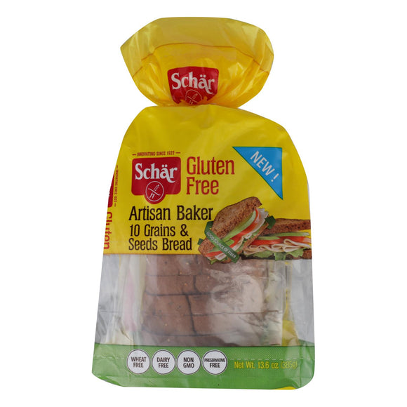 Schar Artisan Baker Gluten-Free 10 Grains & Seeds  - Case of 6 - 13.6 OZ
