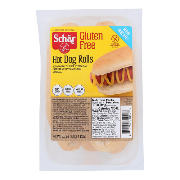 Schar Hot Dog Rolls - Case of 6 - 8 oz.