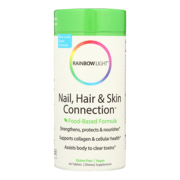 Rainbow Light Nail Hair and Skin Connection - 60 Tablets Pack of 3
