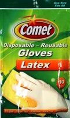 Comet Disposable Gloves 10Ct Pack of 6