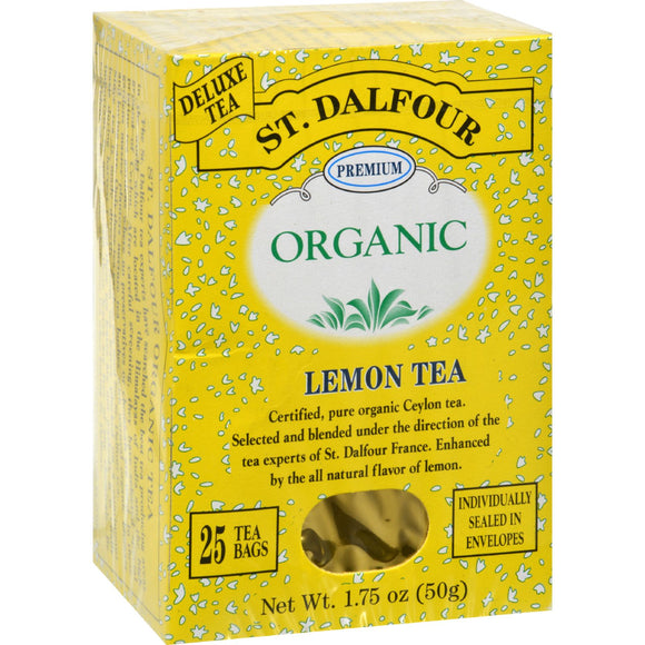 St Dalfour Organic Tea Lemon - 25 Tea Bags Pack of 3