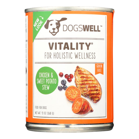 Dogs well Vitality Chicken and Sweet Potato Stew Dog Food - Case of 12 - 13 oz.