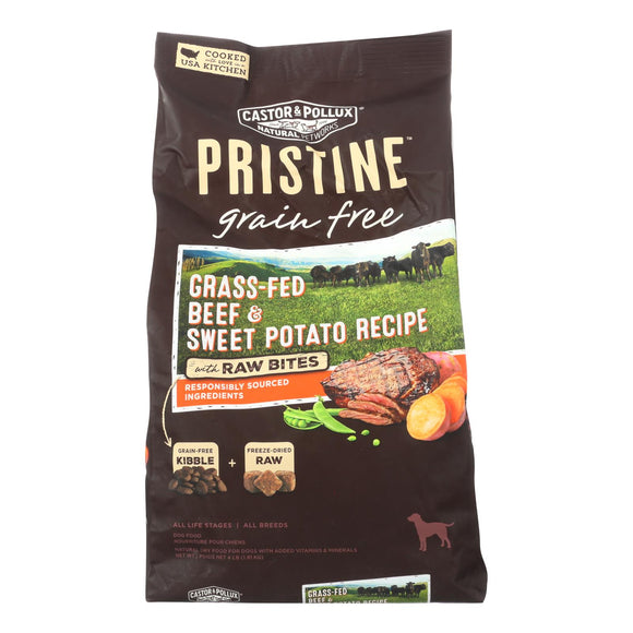 Castor and Pollux Dog - Beef - Sweet Potato - Grain Free - Case of 5 - 4 lb.